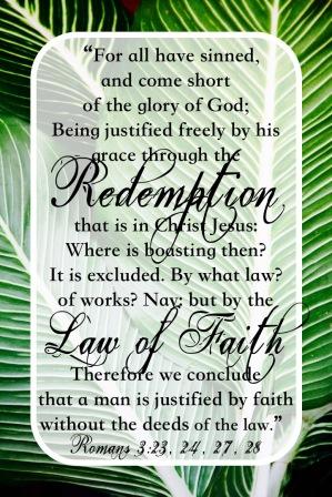 Romans 3-23, 24, 27, 28 English