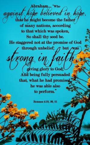 Romans 4 18, 20-21 English