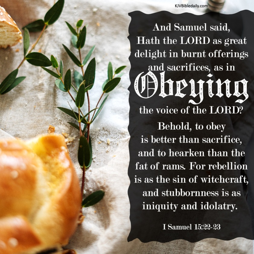 I Samuel 15-22-23 KJV