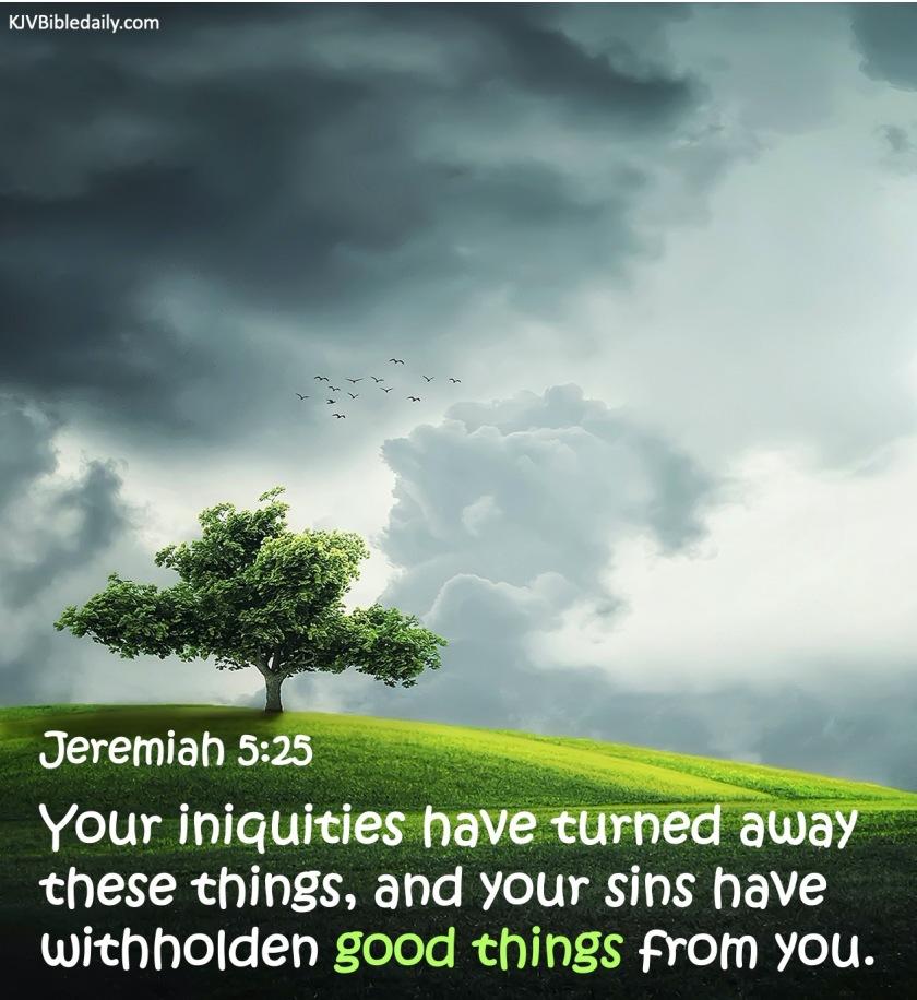 Jeremiah 5-25 KJV