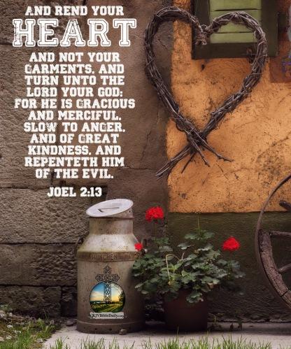 Joel 2 13 KJV