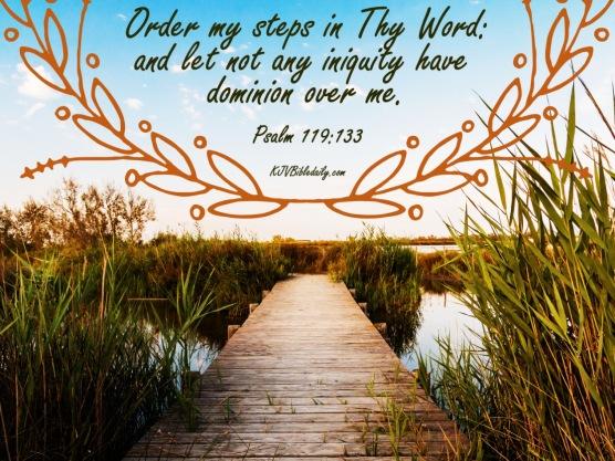 Psalm 119 133 KJV