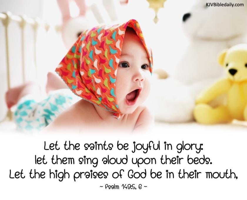 Psalm 149-5, 6 KJV