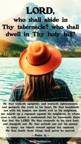 Psalm 15 KJV