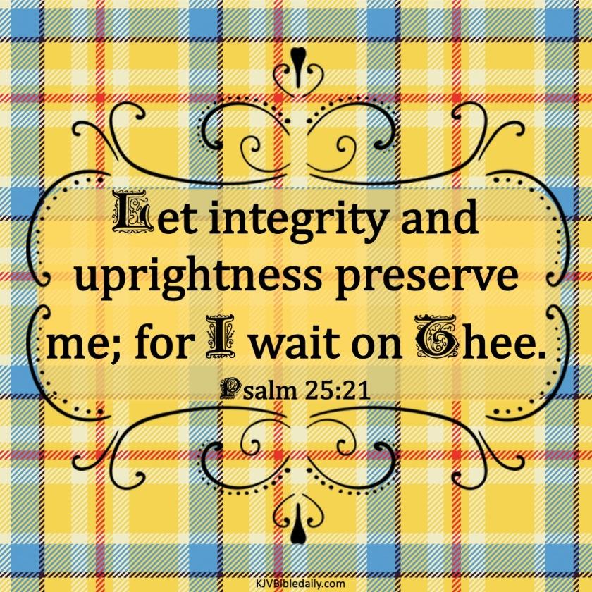 Psalm 25 21 KJV
