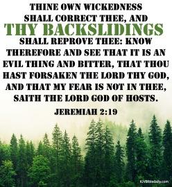 Jeremiah 2-19 KJV