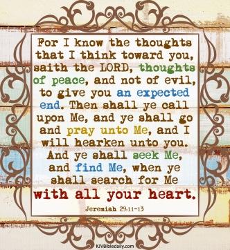 Jeremiah 29-11-13 KJV