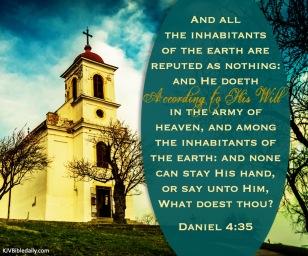 Daniel 4-35 KJV