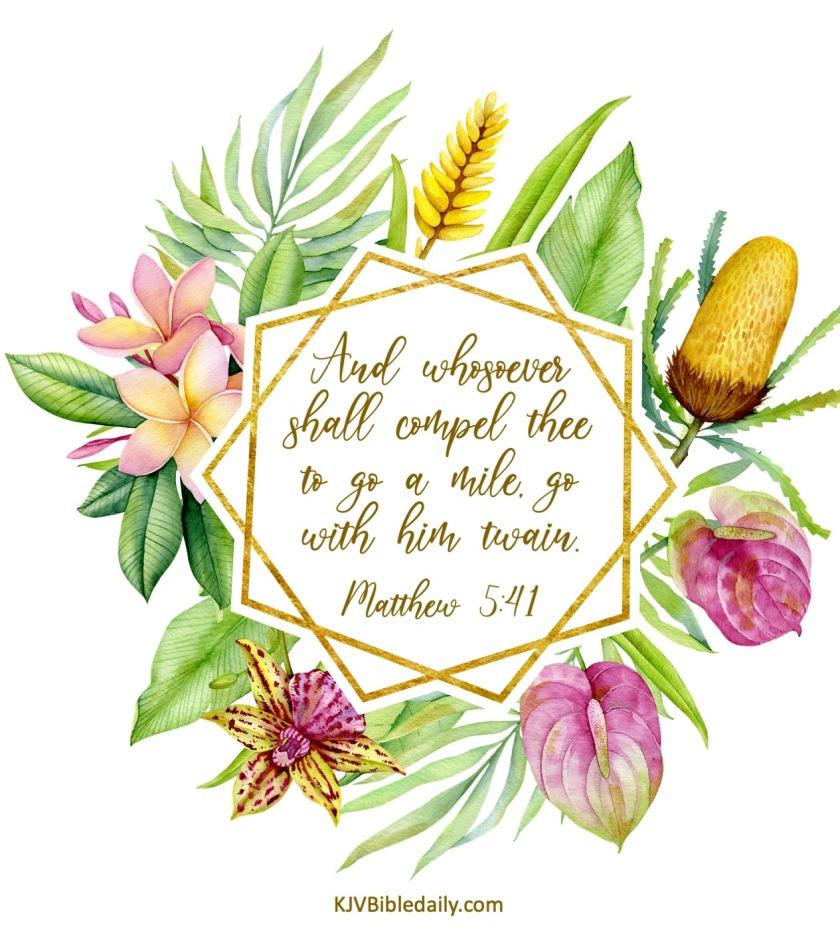 Matthew 5 41 KJV